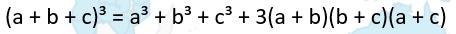 4 hằng đẳng thức của 3 số