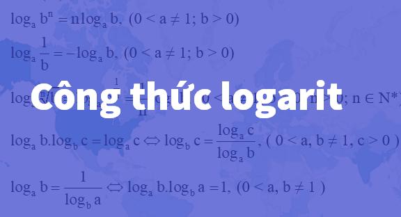 Công thức logarit