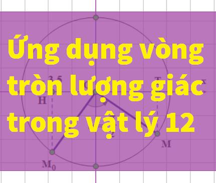 Vòng tròn lượng giác trong vật lý 12
